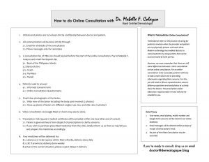 Online Consultation guidelines